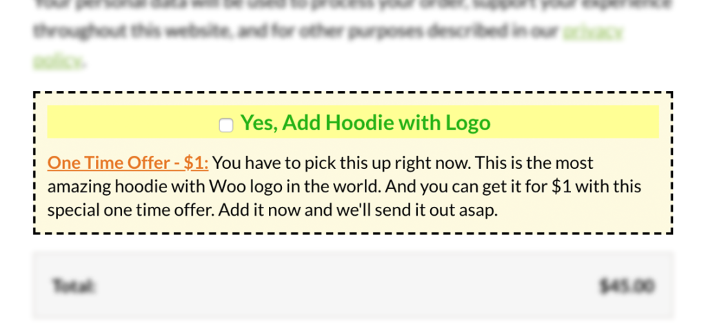 WooCommerce Checkout Order Bump